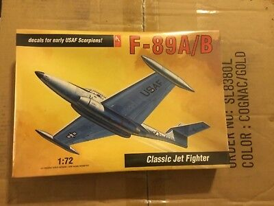 Hobby Craft 1:72 F-89 A/B Jet Fighter USAF Scorpion Plastic Model Kit #1370U for sale  Dwight