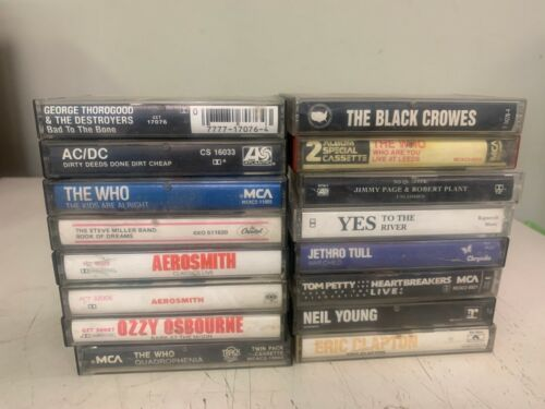 CLASSIC ROCK CASSETTE TAPES LOT OF 16  VG