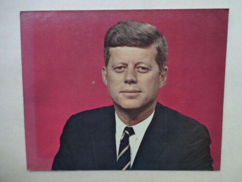 ORIGINAL 1960S JFK JOHN KENNEDY CARDBOARD SIGN 8 X 10