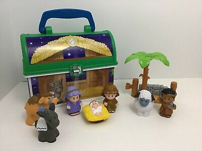 Fisher Price Little People On The Go Nativity Set Animals Figures