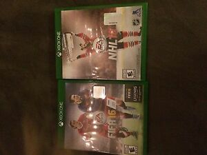 NHL 16 and FIFA 2016 Xbox one