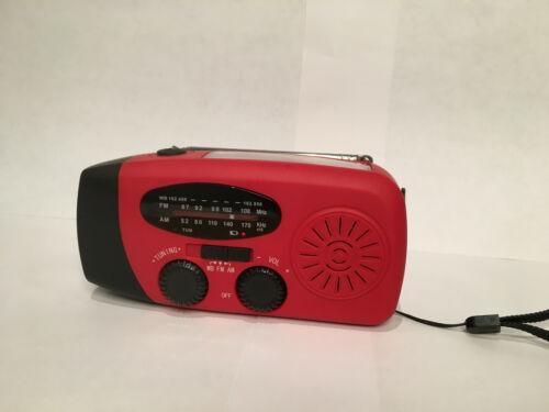 Emergency Solar Hand Crank Weather AM/FM/WB/NOAA Radio LED Charger