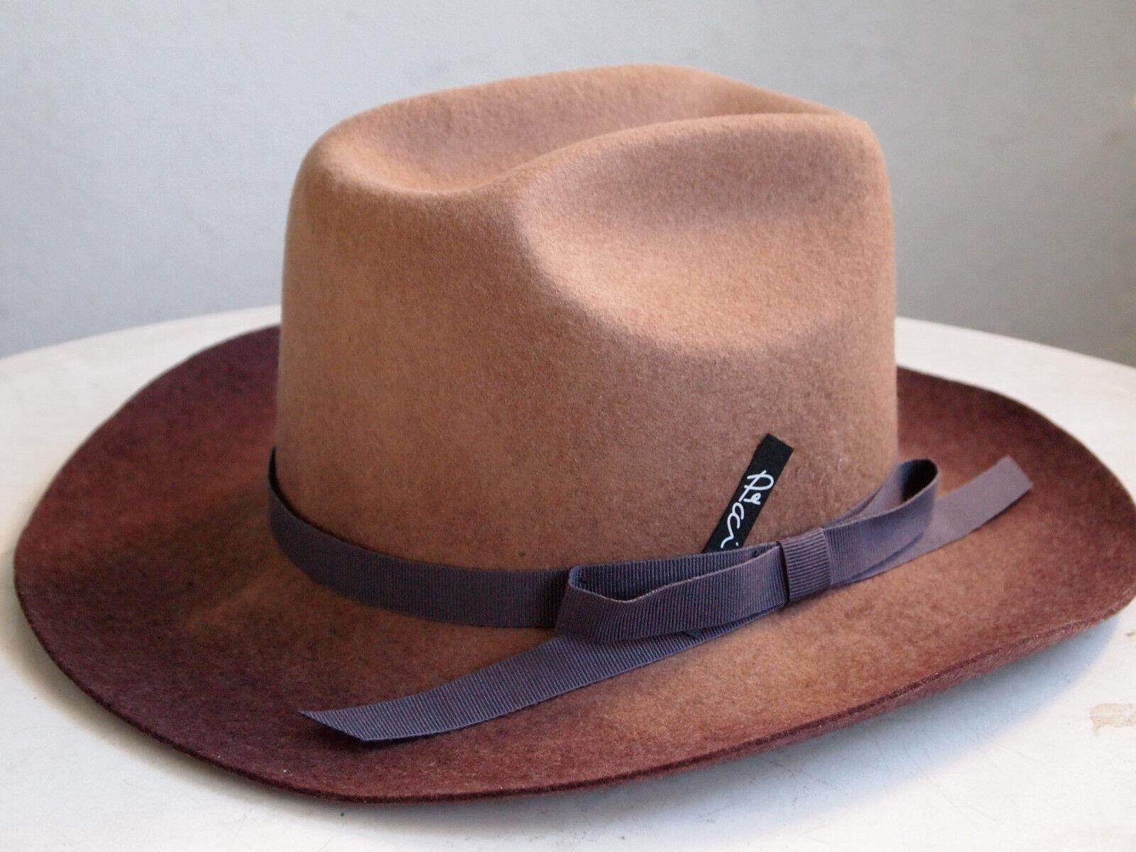 El Paso++++ edler italienischer Designer Filzhut Cowboy Hut 100% Wolle Hipster