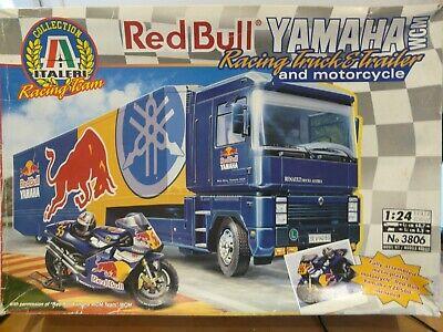 Maquette Camion 1/24 ITALERI Red Bull Magnum With Trailer Moto Yamaha Ref 3806
