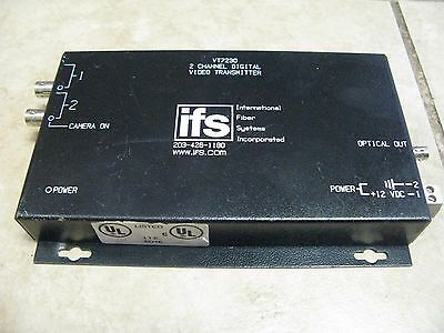 IFS VT7230  2 CHANNEL VIDEO 2 CHANNEL DATA FIBER TRANSCEIVER