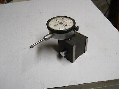 Starrett 25-631 Dial Indicator W657 Magnetic Base .0005  1 Range  Used