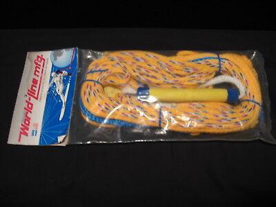 Old School 90's Taylors World-Line Wakeboard/Water Ski Rope & Handle NEW (World Ski Lines)