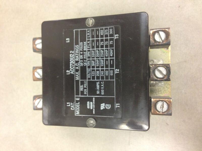 ACC730U22 Arrow Hart Contactor 93A 120V 50HZ Coil