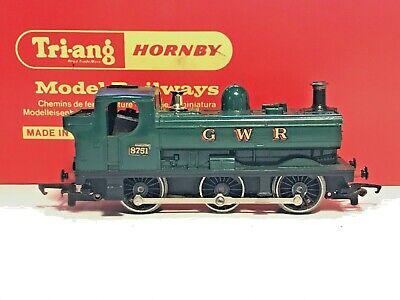 🚂 Vintage 00 Gauge TRI-ANG HORNBY RAILWAYS GWR PANNIER TANK Locomotive 8751 SS
