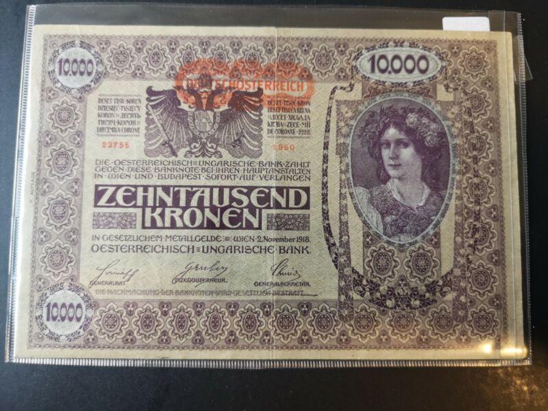 10000 deutschosterreich 1918