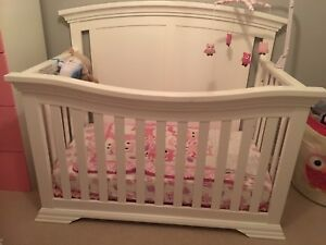 White Crib and Changing Table