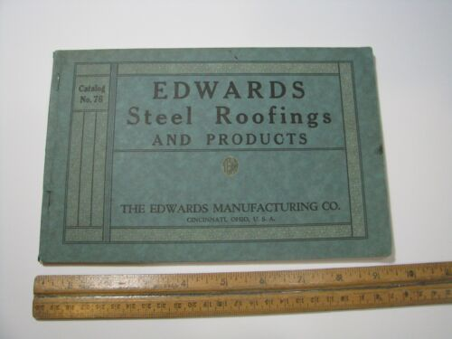 Vintage Edwards Steel Roofing & Products Catalog 1920