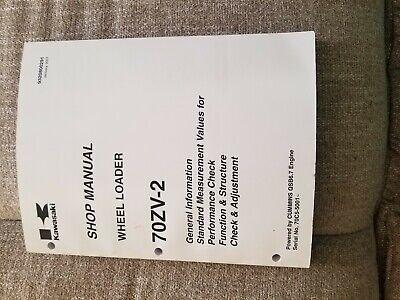 Kawasaki 70zv-2 Wheel Loader Shop Manual