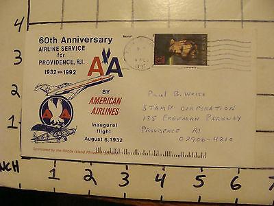Vintage Envelope  60Th Anniv  Airline Service For Providence Ri 1932 1992