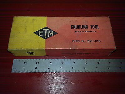 New Etm 1 18 Knurling Tool No. Kh 1015 Sothbend Logan Sheldon Clausing Lathe