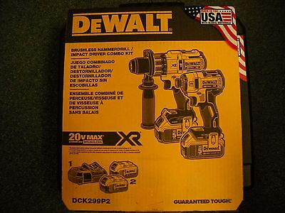 Dewalt DCK299P2 20V Cordless Brushless Combo Kit  2-Shape 5.0Ah DCD996 DCF887 NEW