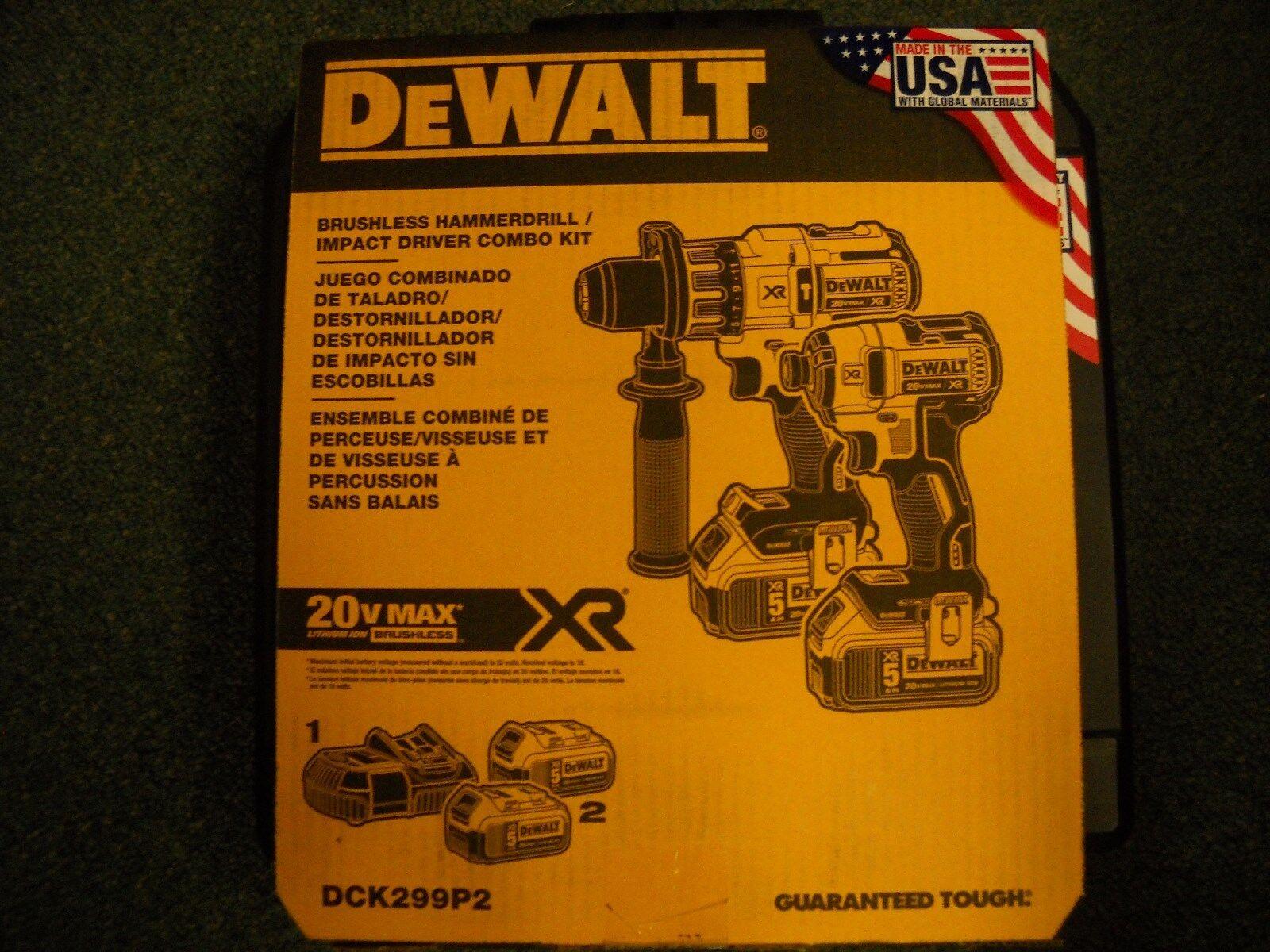 dck299p2 20v cordless brushless combo kit 2