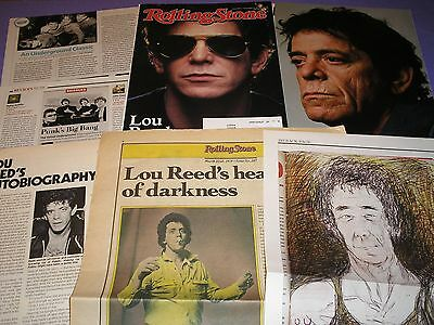 LOU REED VELVET UNDERGROUND CLIPPINGS PACK 50+