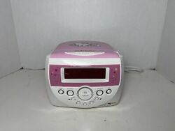 Hello Kitty AM FM CD Alarm Clock Radio Model KT2053 Tested Works Great VGUC