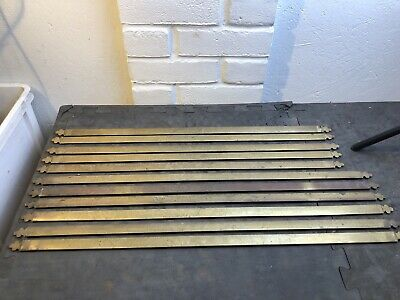 Set Of 11 Reclaimed Heavy Brass Stair bars rods Half round