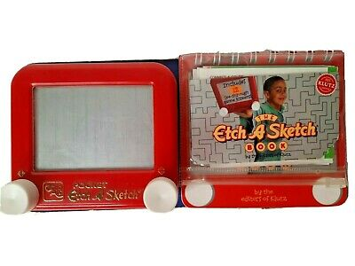 Pocket Sized Etch A Sketch Toy, Stickers and Book by Ohio Art New Condition