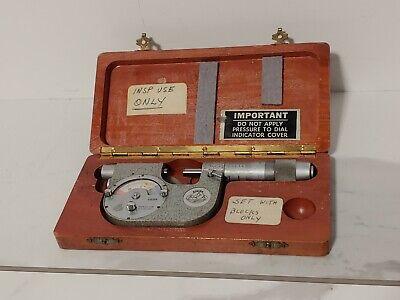 Etalon Micrometer .0001 Jeweled 6854 By Roch Rolle Made In Switzerland