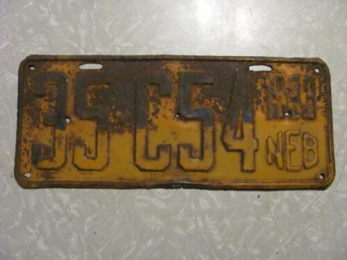 1933 NEBRASKA LICENSE PLATE   FREE SHIPPING