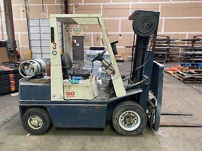 Nissan 50 Fork Truck 5000lb Capacity Propane Forklift
