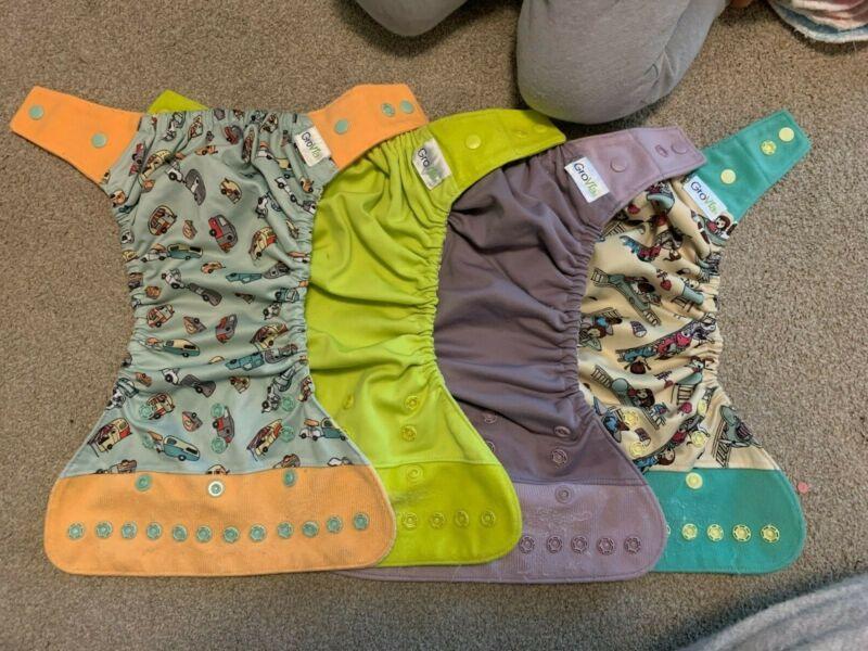 Grovia Hybrid cloth diaper Shell pre-owned (covers)