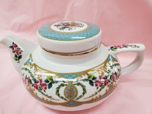 Vintage Andrea by Sadek Collection Sevres Made in Japan Floral Ceramic Teapot