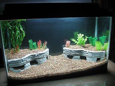 Tutorial decorate aquarium with stones ebay for Aquarium wood decoration