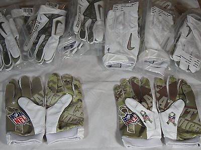 New Nike Vapor Jet 2.0 NFL Salute to Service STS Receiver Skill Gloves Camo WWP