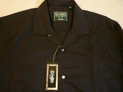 GITMAN BROS VINTAGE Black LS Camp Shirt New W/ Tags M $230 Made In USA FREE SHIP