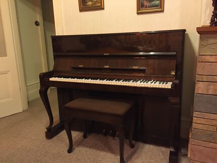 Petrof Upright Piano in Beautiful Gloss Walnut Finish Malvern Stonnington Area Preview
