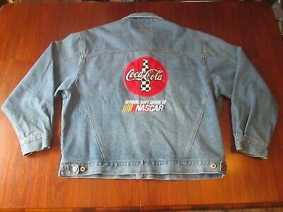 Vintage River's End COCA COLA NASCAR Classic Blue Jean Jacket Size XL EUC
