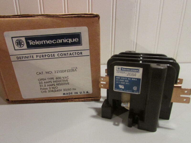 Gould Telemecanique Definite Purpose Contactor 2210DPJ20BA Amp: 25 Inductive