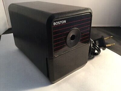 Boston Hunt Electric Pencil Sharpener Model 18 Made In Usa 296a Black Working