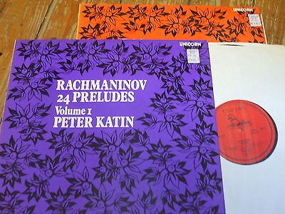 UNS 203/4 Rachmaninov 24 Preludes Vols. 1 & 2 / Katin 2 LP set
