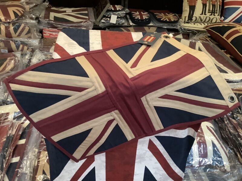 Union Jack Textile Flag ( Tea Dyed White 49x33cms )