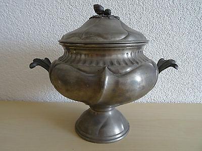Antiker Schale aus Zinn ~ Dose ~ Zinngefäß ~ Schale mit Deckel