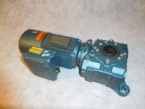 Sew Eurodrive SA47TDT80N4BMG05Hr Gear Brake Motor 1HP 12.10:1 Ratio Thru Shaft