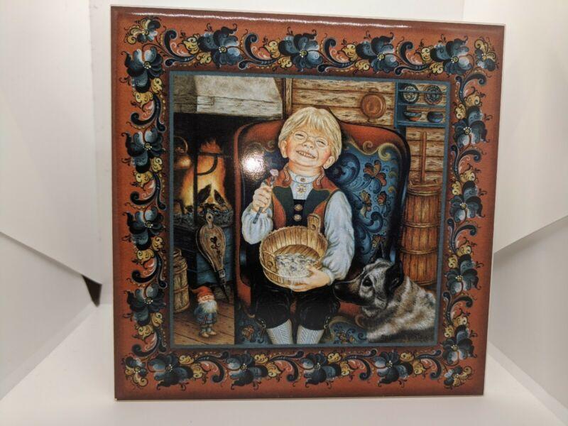 Suzanne Toftey Tile, Pickled Herring, Set of 2