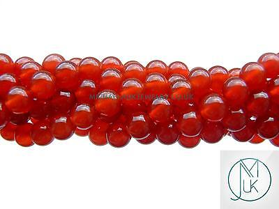 Carnelian Natural Gemstone Round Beads 8mm Jewellery Making (47-50 Beads)