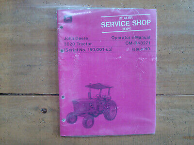 John Deere 3020 Tractor Operators Manual
