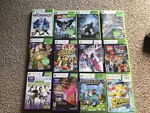 Xbox 360 with Kinect and 12 games
