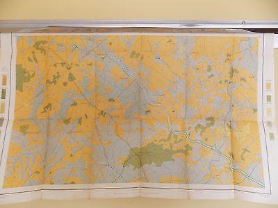 Antique 1902 Soil Map Due West SC Honea Path Hodges Waterloo Approx 33 X 21