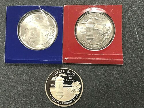 2009 P D S Puerto Rico Set - Proof & PD Satin in Mint Cello or Wrap