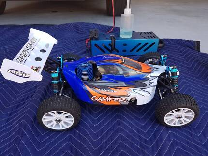 RC Car HSP Camper 1/8 Nitro Buggy - with extras -