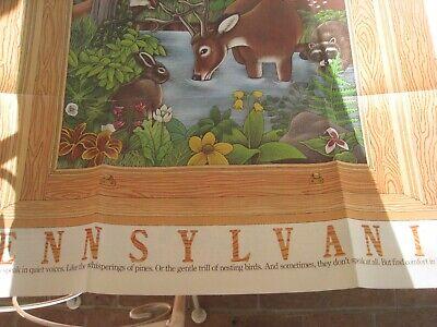 3 Vintage 1982 Pennsylvania travel advertising art folded posters