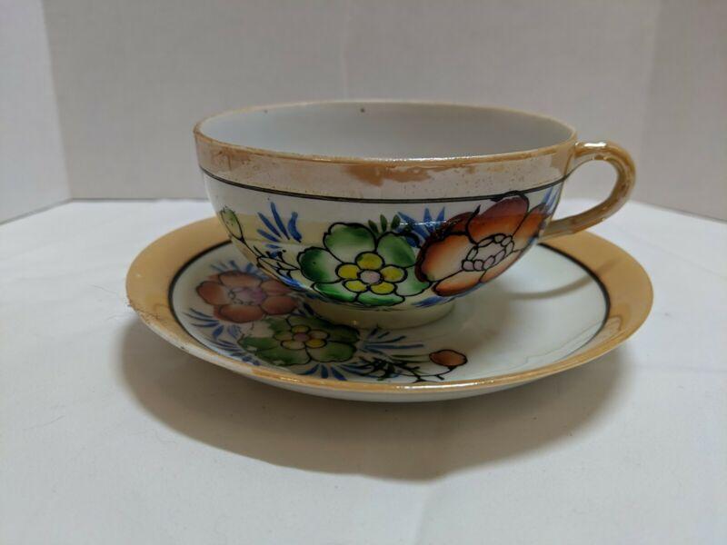 Vintage Hand-painted Teacup - Japan